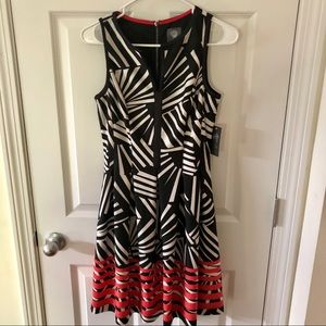 Vince Camuto Patterned Dress NWT